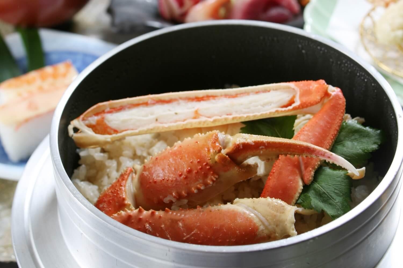 【冬季限定】冬はカニ釜飯!季節の釜めし付和会席プラン~お食事は朝夕ともお部屋食でゆったり